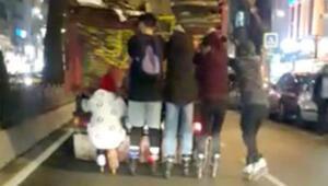 İstanbulun göbeğinde şoke eden görüntü