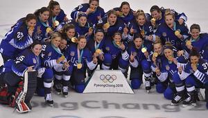Kış Olimpiyatları kadınlar buz hokeyinde altın madalya ABDnin