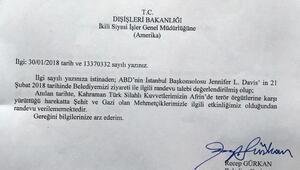 Edirne Belediye Başkanı, ABD Başkonsolosunun randevu talebini reddetti