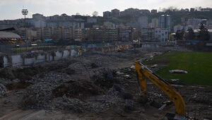 65 yıllık stadın yıkımı tamamlandı İşte son hali...