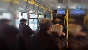 Yolcu otobüsünde gerginlik