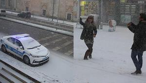 Son dakika: Kar İstanbulun dibine kadar sokuldu