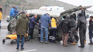 İstanbulda zincirleme kaza... Yaralılar var