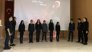 Öğrencilerden Afrin şehitleri için program
