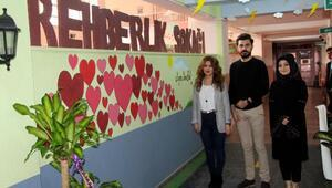 Silopi'de okulda Rehberlik Sokağı