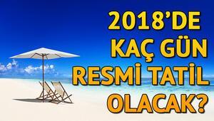 2018de kaç gün tatil var 2018 resmi tatil takvimi