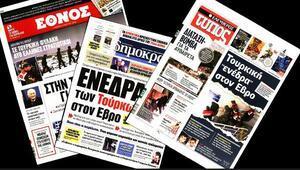 Sınırda iki askerin tutuklanmasının ardından Yunan basını küplere bindi