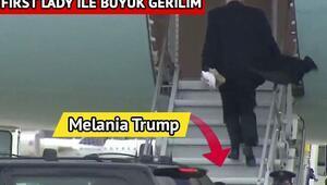 Trump çiftinin arasındaki gerilim kameralara yansıdı