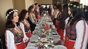Edirnede Bulgaristan Milli Günü etkinliğinde Afrin şehitleri için saygı duruşu