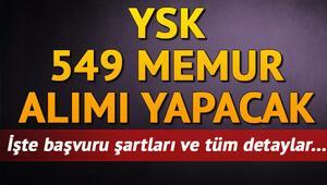 YSK memur alımı | Yüksek Seçim Kurulu 549 memur alacak
