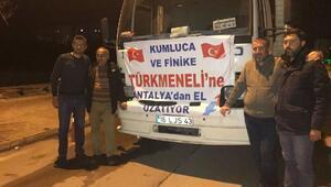 Antalyadan Türkmenlere bir kamyon sebze