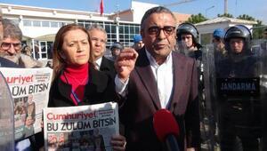 Silivride Cumhuriyet Gazetesi davası öncesi basın açıklaması gerginliği
