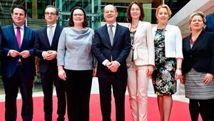 SPD'nin bakanları belli oldu