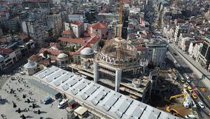 Taksim Camii'nin son hali böyle görüntülendi İşte açılış tarihi