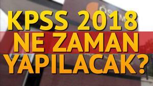 KPSS başvurusu ne zaman yapılacak ÖSYM sınav takvimi