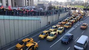 Taksiciler adliyeye akın etti