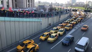 Taksiciler adliyeye akın etti...