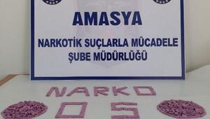 Amasya'da 998 uyuşturucu hapa 2 tutuklama