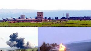 Teröristlerin kulesi böyle imha edildi