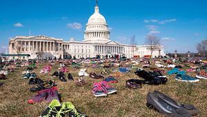 7 bin ayakkabılı protesto