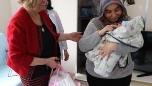 Manisa Büyükşehirden Hoşgeldin bebek ziyareti