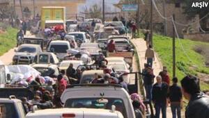 Son dakika AFP duyurdu Afrinden 30 bin sivil ayrıldı