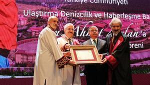 Bakan Arslana fahri doktora ünvanı verildi