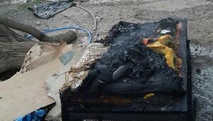 Evde çıkan yangında 9 kişi dumandan etkilendi