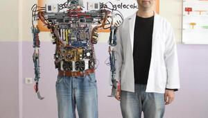 Eğitim robotu, Afrindeki Mehmetçiğe kolaylık diledi
