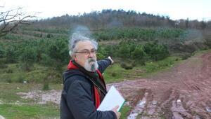 İzmitte ormanlık alana yapılacak atık yakma tesisine tepki