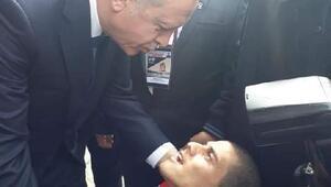 Engelli gencin Cumhurbaşkanı ile tanışma hayali gerçek oldu