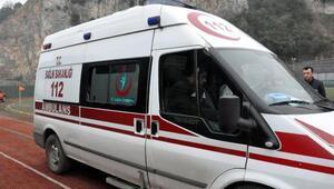 Otomobilde doğan Yamaç bebek, ambulans helikopterle Konyaya sevk edildi