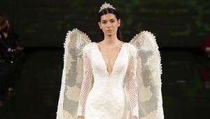 Türkiye güzeli 6.5 kiloluk gelinlik giydi