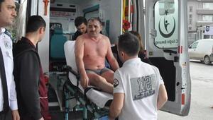 Bursada üzerine kimyasal madde dökülen işçi ağır yaralandı