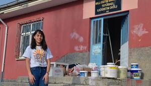 Üniversitelilerden köy okuluna destek
