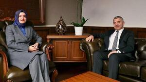 Başkan Çelik, Bakan Kaya ile 2 önemli projeyi görüştü