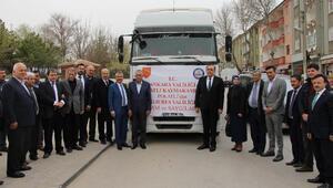 Polatlı Kaymakamlığından Mehmetçiğe 80 ton un gönderildi
