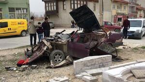 Şarkikaraağaçta kaza: 1 yaralı