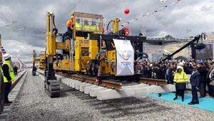 Ankara- Sivas YHT projesinin ilk ray serimi gerçekleştirildi