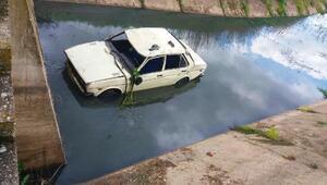 Otomobil sulama kanalına uçtu: 1i bebek 3 yaralı