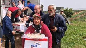 AFAD'dan Cindereste sivillere yardım