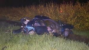 Kaza yapan otomobile tanker çarptı: 1 ölü, 3 yaralı