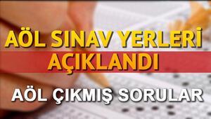 AÖL sınav giriş yerleri açıklandı AÖL sınav giriş belgesi sorgulama sistemi