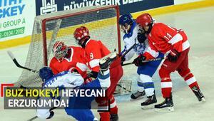 Buzda heyecan Erzurumda başladı