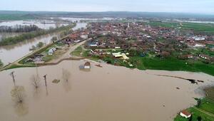 Edirne'de nehirlerde kırmızı taşkın alarmı.... Su daha da yükselecek ancak...