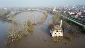 Edirnede Tunca ve Meriç nehirlerinin debisi düşüşe geçti