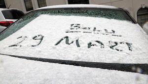 Nisana 3 gün kala birçok yerde kar var
