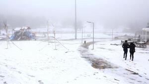Bağbaşı Yaylasında kar sürprizi