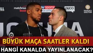Anthony Joshua Joseph Parker boks maçı bu akşam hangi kanalda saat kaçta canlı olarak yayınlanacak