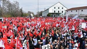 Alpullu Şeker Fabrikası önünde özelleştirme protestosu